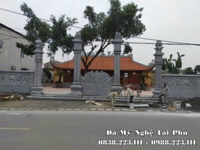 Xây dựng Cột đá tứ trụ Đá xanh tự nhiên cho Đình Làng