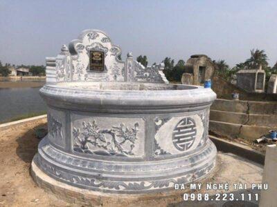 Xây Mộ đá tròn đẹp, cao cấp – Lăng mộ đá Ninh Bình