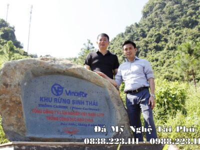 Đặt Bia đá tự nhiên cho Khu Rừng sinh thái VinaFor của Tổng Công ty Lâm Nghiệp Việt Nam