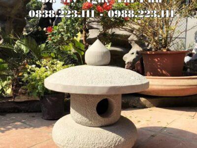 Mẫu Đèn đá trang trí tự nhiên, sân vườn theo kiểu Nhật Bản cổ