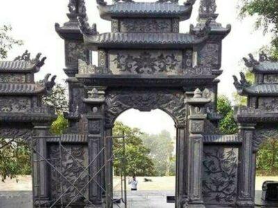 Xây cổng tam quan bằng đá cho Đình làng đẹp tại Ninh Bình