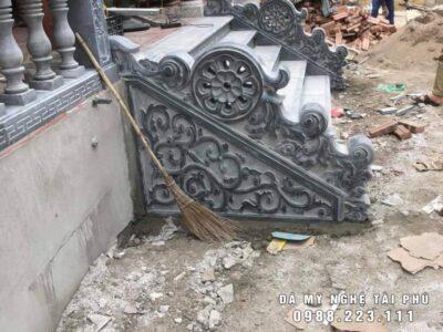 Mẫu Rồng đá bậc thềm, bậc tam cấp đá nhà thờ họ