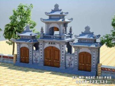 Thiết kế Cổng đá Tam quan đẹp cho Nhà thờ tổ, Từ đường