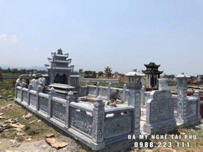 Xây Khu mộ đá xanh tự nhiên đẹp tại Ninh Bình
