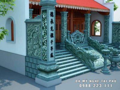 Bản vẽ thiết kế Cột đá Nhà thờ họ đẹp tại Bắc Ninh