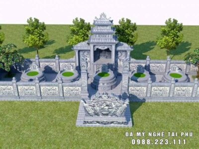 Thiết kế Lăng mộ đá tròn đẹp cho dòng họ tại Hà Nam