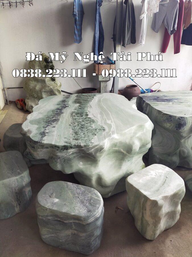 Ban ghe da trang ngoc cao cap Tai Phu
