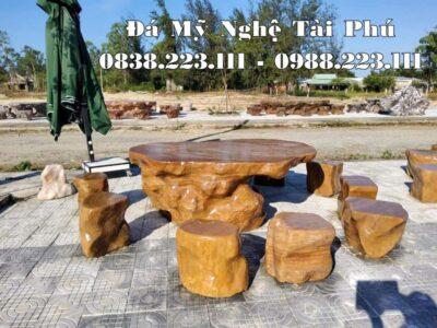 Mẫu Bàn ghế đá tự nhiên, Bàn ghế đá sân vườn cao cấp