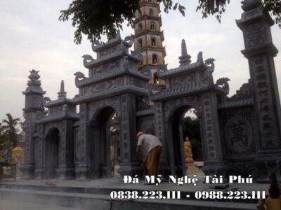 Mẫu Cổng đá đẹp, Cổng đá cho Đình, Chùa, Nhà thờ tổ hiện nay.